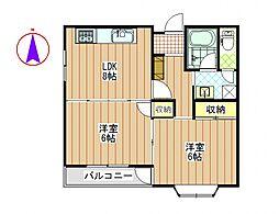 クレアールマンション[302号室号室]の間取り