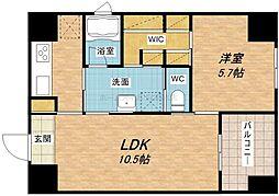 KWレジデンス堺筋本町[2階]の間取り