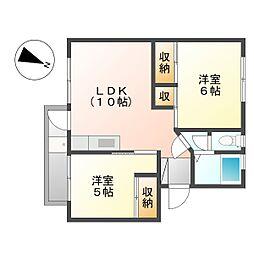 上平間住宅2号棟[5階]の間取り