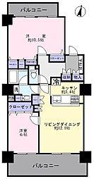 ヴィルヌーブタワー駒沢[19階]の間取り