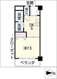 サンシャイン伊藤[5階]の間取り
