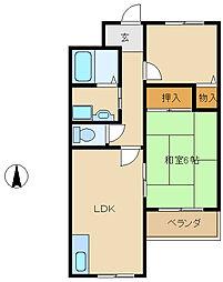 グランディア・ミ・アモーレ南塚口[5階]の間取り