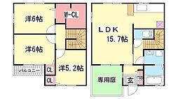 [テラスハウス] 兵庫県神戸市北区谷上南町 の賃貸【兵庫県 / 神戸市北区】の間取り