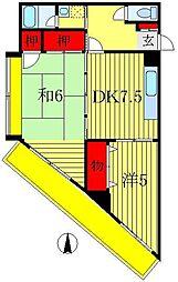 富士ビューハイツ[3階]の間取り
