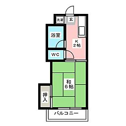 ドミールケンゾー[3階]の間取り