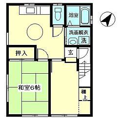 東京都江東区南砂4丁目の賃貸アパートの間取り