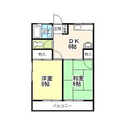 メゾン杉浦[1階]の間取り