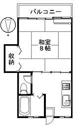 松田ハイツB[201号室]の間取り