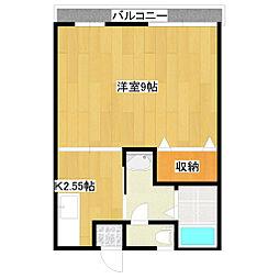 新潟県新潟市西区五十嵐東3丁目の賃貸アパートの間取り