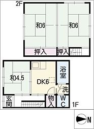 [一戸建] 愛知県名古屋市熱田区沢上1丁目 の賃貸【/】の間取り