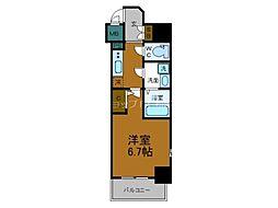 Osaka Metro千日前線 鶴橋駅 徒歩2分の賃貸マンション 15階1Kの間取り