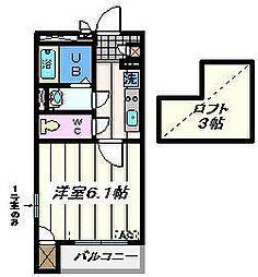 東京都足立区扇1丁目の賃貸マンションの間取り