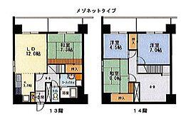 エンドレス519[13階]の間取り