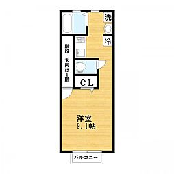 ハーモニーハウス[2階]の間取り