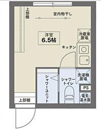 COCOFLAT SASAZUKAIII 2階ワンルームの間取り