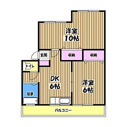 第2ミネマンション[2階]の間取り