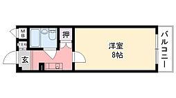 アメニティ武庫川[3階]の間取り