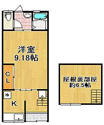 [一戸建] 大阪府大阪市大正区三軒家西2丁目 の賃貸【/】の間取り