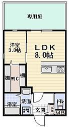 大阪府門真市元町の賃貸アパートの間取り