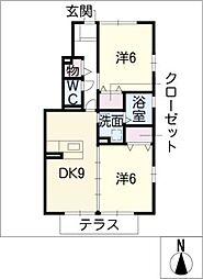 グランディールA棟[1階]の間取り