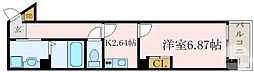Osaka Metro谷町線 都島駅 徒歩4分の賃貸マンション 5階1Kの間取り