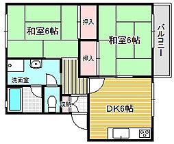 大阪府摂津市香露園の賃貸アパートの間取り