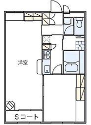 レオパレス奈成[2階]の間取り
