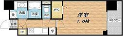 アーバネックス谷町II[2階]の間取り