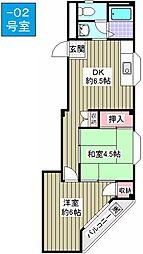 ファーストマンション[402号室]の間取り