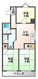 香川花園ハイツ[2階]の間取り