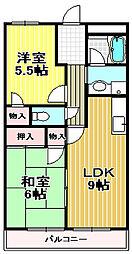 クレール取石[2階]の間取り