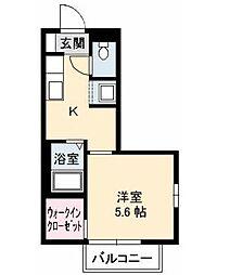 ベルデ北田B棟[105号室]の間取り