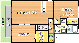 シャトン黒川 A棟[1階]の間取り