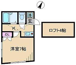 ハイツK[2階]の間取り