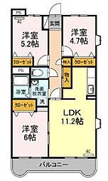 カミヤ・エステート[2階]の間取り