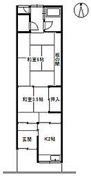 [一戸建] 大阪府守口市菊水通1丁目 の賃貸【/】の間取り