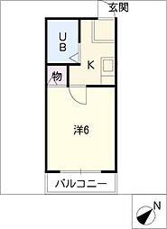 メゾンママ2[1階]の間取り