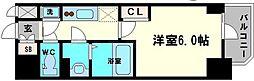 エスリード大阪城クローグ 9階1Kの間取り
