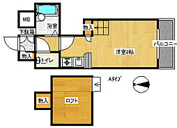 コスモレジデンス北加賀屋II[2階]の間取り