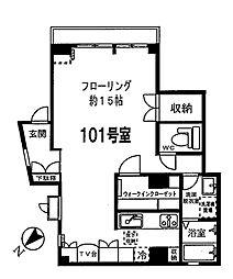 神奈川県川崎市高津区下作延1丁目の賃貸マンションの間取り