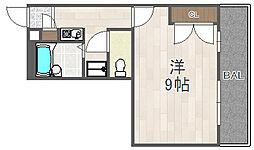 兵庫県宝塚市安倉中1丁目の賃貸マンションの間取り