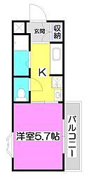 シオミプラザサード[2階]の間取り