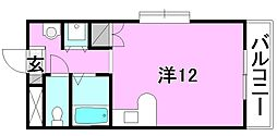 ベルメゾン畑寺[206 号室号室]の間取り