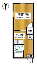 神奈川県川崎市幸区小倉の賃貸マンションの間取り