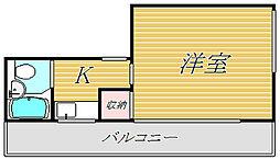 ユタカコーポ[3階]の間取り