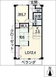 Belle demeure[2階]の間取り