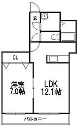 CASA・VILLAGE[4階]の間取り