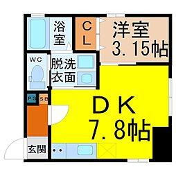 DLIFE中島(ディーライフ中島)[3階]の間取り