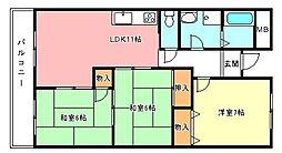 日吉マンション[3階]の間取り