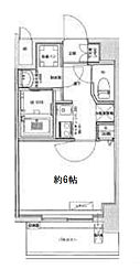 Osaka Metro中央線 九条駅 徒歩6分の賃貸マンション 11階1Kの間取り